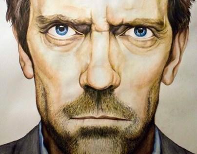A1 portrait illustration of Dr. House