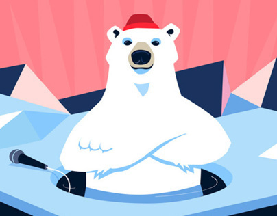 Illustration for Polar Bear Pitching