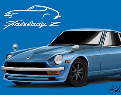 Datsun 240Z Illustration