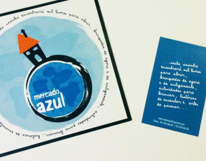 Design Flyer, Saco, Newsletter :: Mercado Azul :: 2008