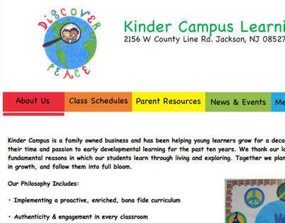 Kinder Campus - Website Design