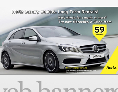 Graphic design for HERTZ Romania