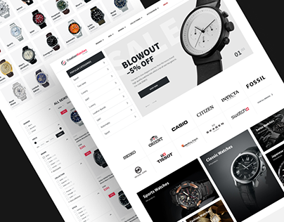 Creation Watches — eCommerce website redesign