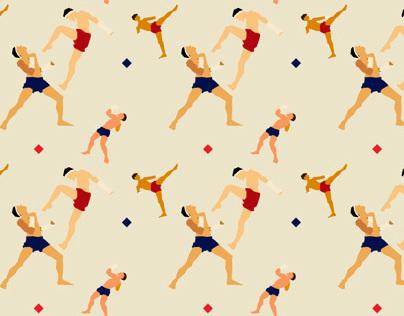 Thai boxing pattern