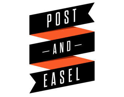 Post and Easel Logo Design