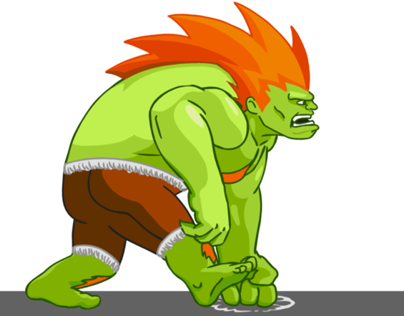 Blanka walkcycle