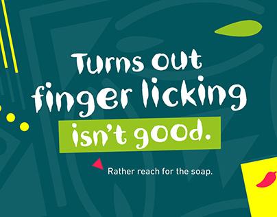 Nandos: Turns out finger licking isn't good