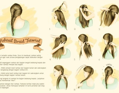 Infographic - Fishtail Braid Tutorial