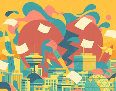 ArtBreakers Market Poster