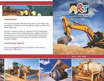 ART CIVIL Earthworks // Brochure Design