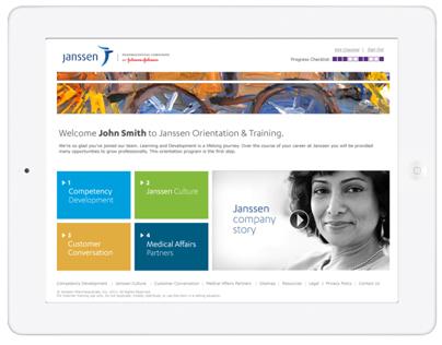 Janssen - Digital Orientation Guide design