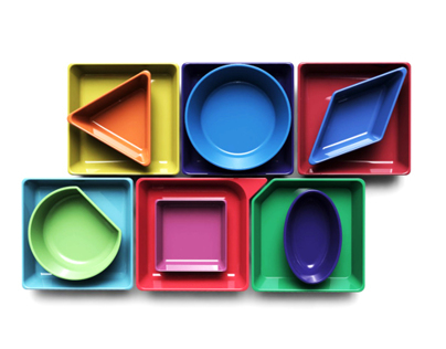 'Vasarely' Ceramic tableware - serving bowl set