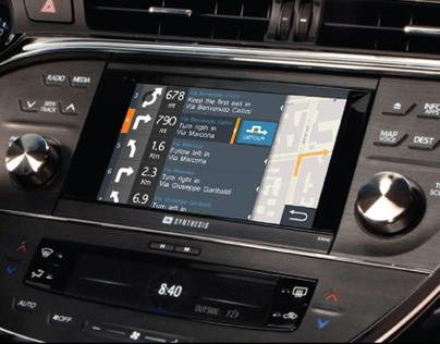 Navigator - Automotive UI concept