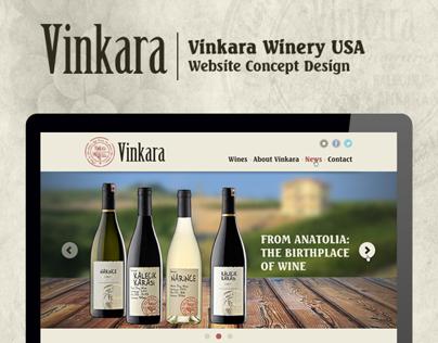 Vinkara Winery USA Website Design Alternative