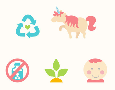 Labels icon set