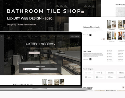 Web design - Luxury Bathroom tile shop