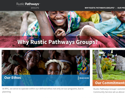 Rustic Pathways Groups Website