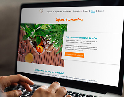 Website design for wellness activity