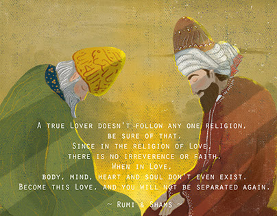 Rumi & Shams Illustration