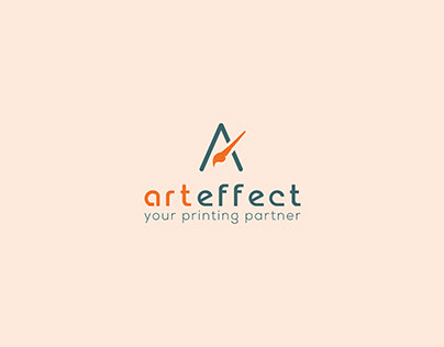 art effect logo design for printing company business