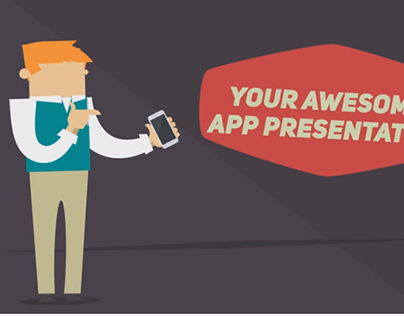 After Effects Template: Funky mobile app presentation
