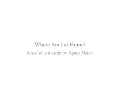 """""""Where Am I at Home?"""" (2013)"""