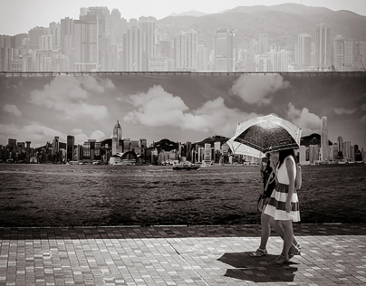 Hong Kong People B&W
