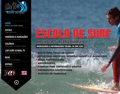 Lufi Surf School - Website