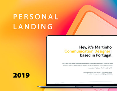 Personal Landing Page 2019
