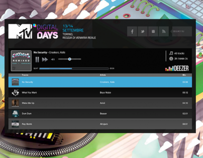 MTV Digital Days 2013 Radio Player