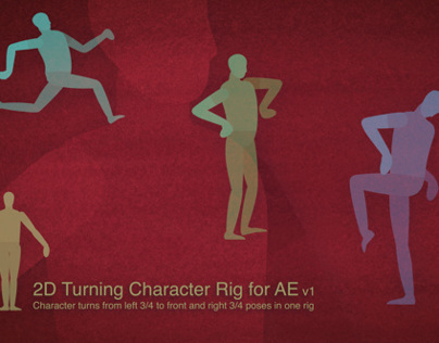 2D Turning Character Rig for AE v1