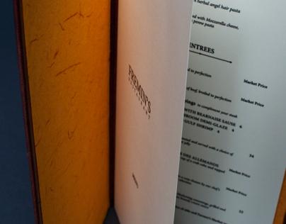 Fremin's Restaurant Menu Re-design