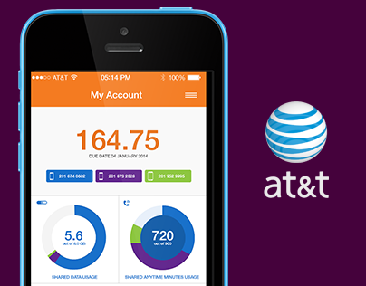 at&t Bill Interface Design (concept)