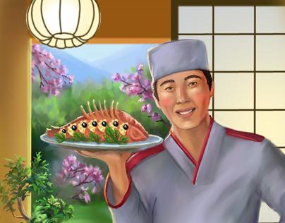 invitation card to the japanese restaurant