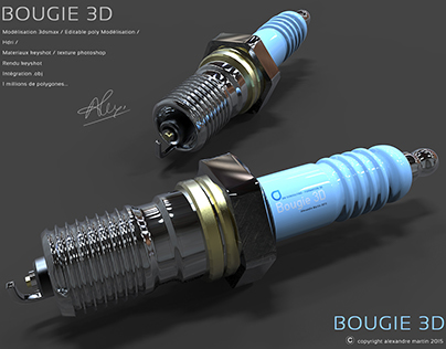 Bougie 3d