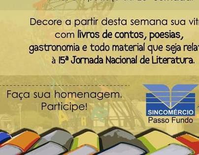 Homenagem a 15ª Jornada de Literatura