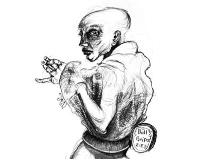 A Bizarre Series of Figure Drawings