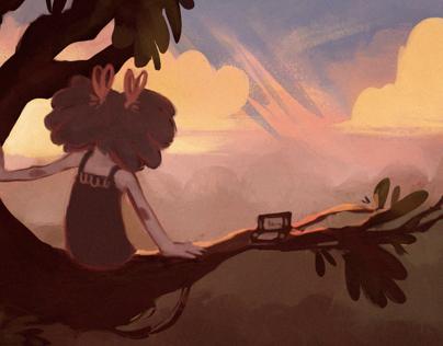 Treetop Sunset