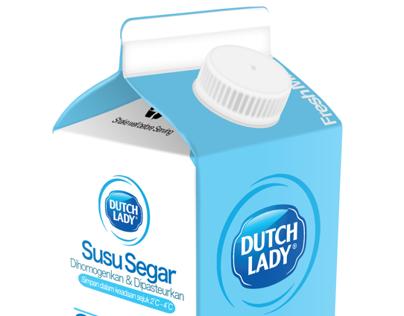 Dutch Lady Milk Packaging