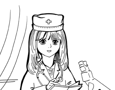 Coloring - doctor profession.