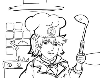 Coloring - chef profession.