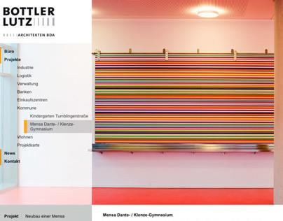 Website for Bottler Lutz Architekten BDA