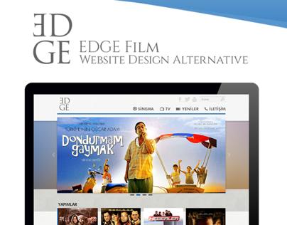 EDGE Film Website Design Alternative