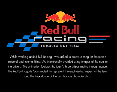 Red Bull Racing Animation Sting