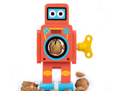 Wooden Robot Nutcrackers