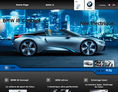 Landing page concept - BMW I8