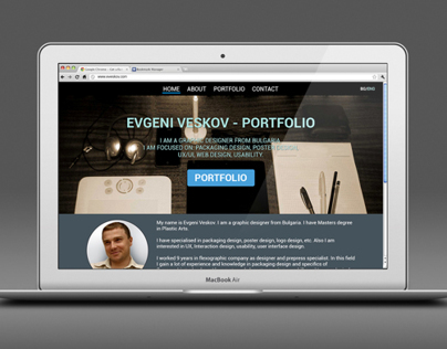 Conceptual Web design - portfolio (in progress...)