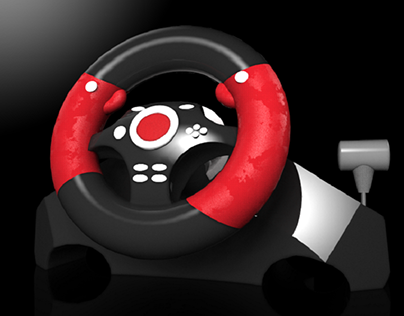PC Racing Wheel 3D Project