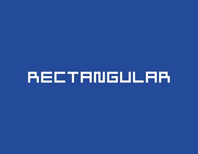 rectangular font