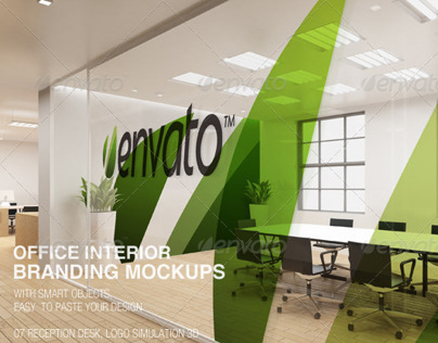 Office interior branding mockups on behance - Designing and decorating home office in smart way ...